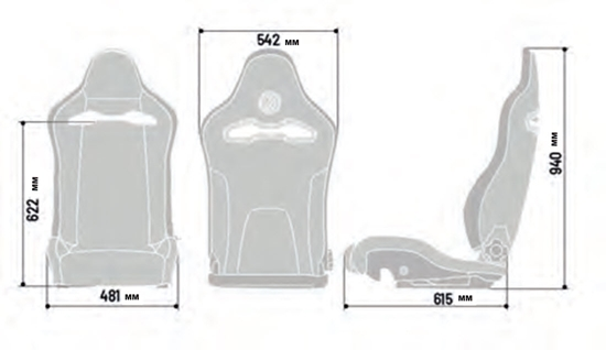 SPARCO SPX SEAT DIMENSIONS