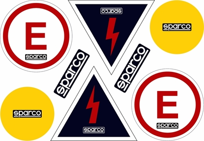 SPARCO EXTINGUISHER AND BATTERY CUT OFF DECAL
