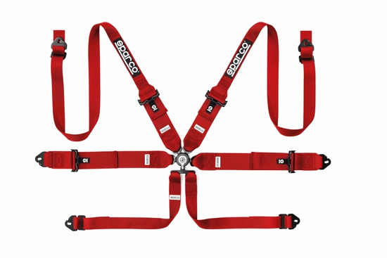 """SPARCO HARNESS 6 POINT 3""""HANS STEEL"""
