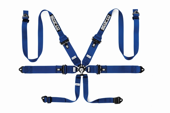 """SPARCO HARNESS 6 POINT 3""""/2"""" HANS ALUMINUM PULL DOWN ADJUSTER BLACK"""