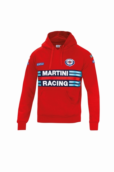 SPARCO MARTINI HOODIE RED