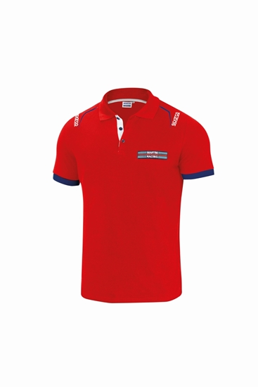 SPARCO POLO EMBROIDERIES RED