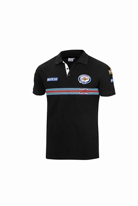 SPARCO MARTINI POLO PATCHES BLACK