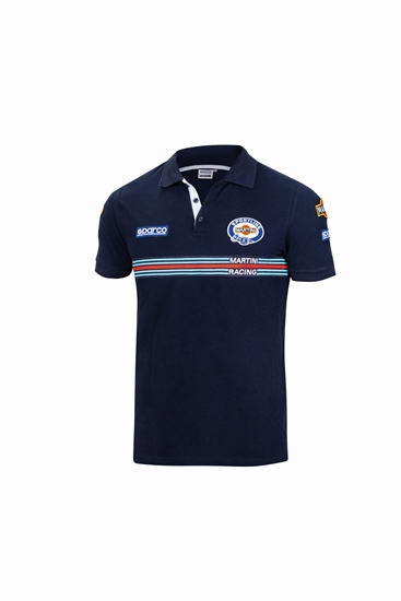 SPARCO MARTINI POLO PATCHES NAVY
